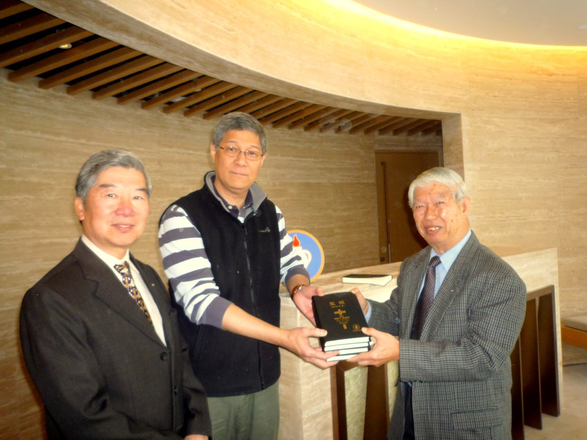 Presenting Bibles to a Hotel in Hong Kong